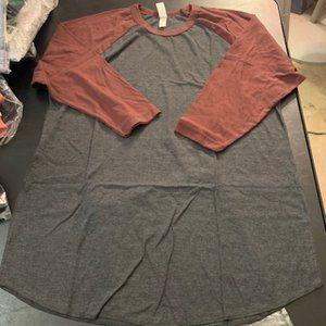 Marky G Black/Truffle 3/4 Sleeve T-shirt L NIB